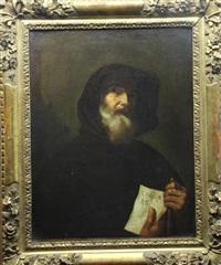 portrait du moine saint-francis de paola by jusepe de ribera