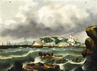 ships at calais, maine by thomas chambers