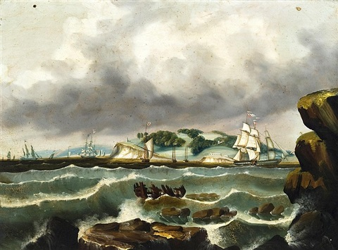 ships at calais maine by thomas chambers