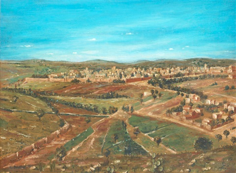 view of jerusalem by ludwig blum