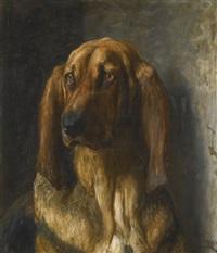 sir lancelot, a bloodhound by briton riviere