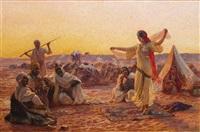 danseuse au désert by otto pilny