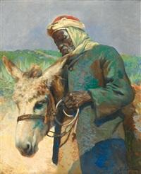 africain menant son âne by daniel cortes