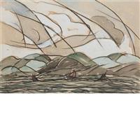sea, sky, land by arthur dove