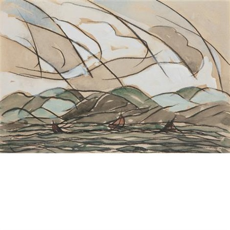 sea sky land by arthur dove
