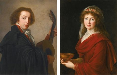 portrait of the count siemontkowsky bystry portrait of the countess siemontkowsky bystry pair by elisabeth louise vigée le brun