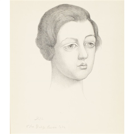 portrait of a woman by diego rivera