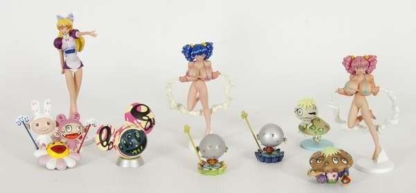 untitled (9 works) by takashi murakami