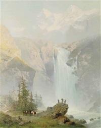 schmadribachfall, lauterbrunnen valley by j. godenne