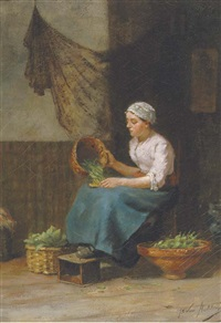 preparing supper by johan van hulsteyn