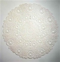 giant doily by tim hawkinson