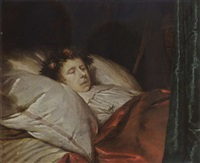 a young man on his deathbed by pieter van anraedt