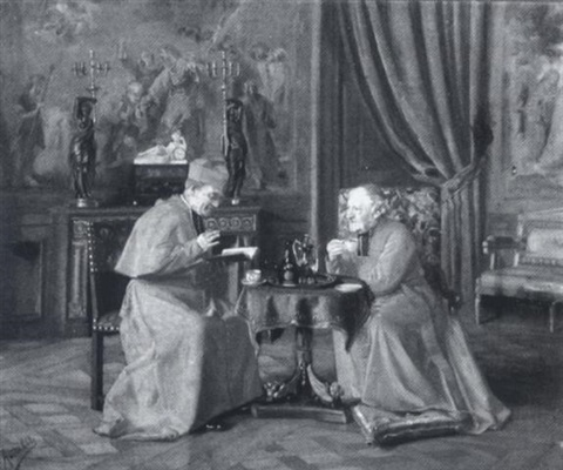 cardinals at tea by gennaro avitabile