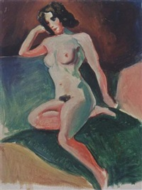 a reclining female nude by joop moesman