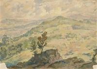mountain landscape by alexandr nikolaevich samokhvalov