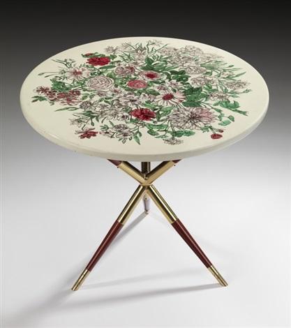 kleiner runder tripod tisch by piero fornasetti on artnet. Black Bedroom Furniture Sets. Home Design Ideas