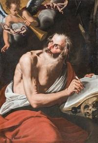 la vision de saint jérôme by italian school-roman (17)