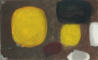 yellow oval (brown): october by patrick heron