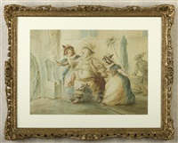 untitled (scene from the merry wives of windsor) by henry william bunbury