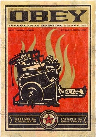 print destroy from 20th anniversary edition by shepard fairey
