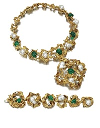 demi-parure comprising a necklace and a bracelet (set of 2) by gilbert albert