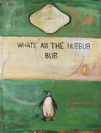 whats all the hubbub - bub by harland miller
