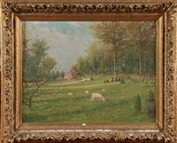 vue du château carsoul et du parc montjoie by adolphe jacobs