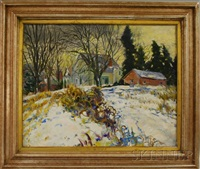 the fields in winter by george davidson