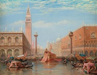 the fête of the marriage of the adriatic, venice by charles vacher