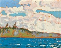 clouds on a breezy day by arthur george lloy
