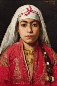 portrait einer jungen orientalin by marie müller
