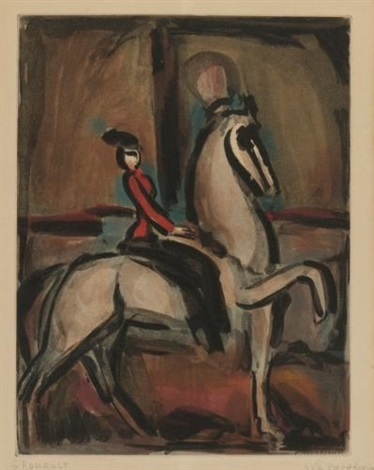amazone from cirque by georges rouault