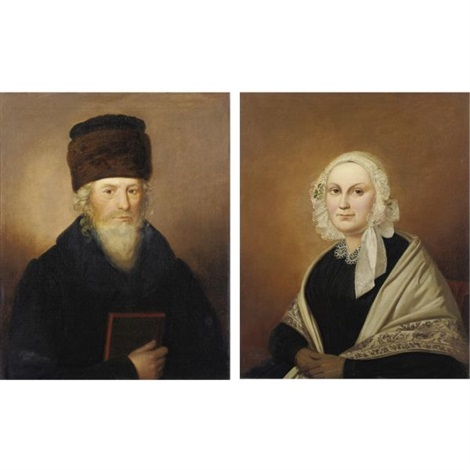 a rabbi and his wife pair by adolf perdisch