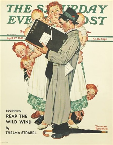 the saturday evening post (2 works) by norman rockwell