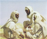 three bedouins by jaromir hilbert