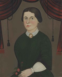 portrait of a lady with a cameo and a rose by william matthew prior
