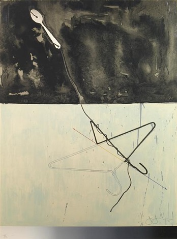 coathanger and spoon (from fragment-according to what series) by jasper johns