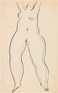 joyful nude by sanyu