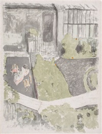 le jardin devant l'atelier (r.m.45) by edouard vuillard