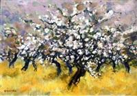 les pommiers en fleurs by claude quiesse