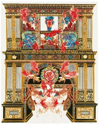 absence of god vi (after holbein) by raqib shaw
