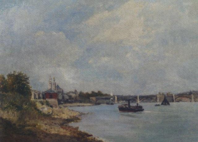 vue du trocadero et la seine by frederick j. sang