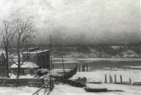 winter in palisades, new jersey by paul r. koehler