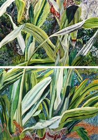 double-spear lily (in 2 parts) by patricia tobacco forrester