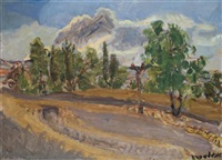 landscape near jerusalem by leon engelsberg