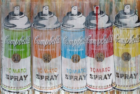 multi spray life is beautiful by mr brainwash