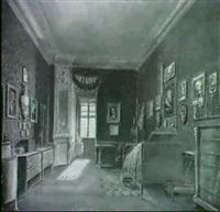 schlafzimmer-interieur mit durchblick auf den        ankleideraum by carl hauser