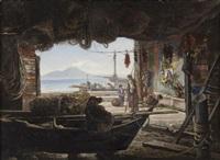 grotta con pescatori by ludovic lepic