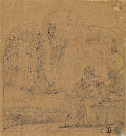 study for a religious scene by eugène delacroix