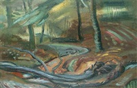 wooded landscape by cathleen s. mann